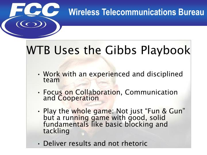 WTB Uses the Gibbs Playbook