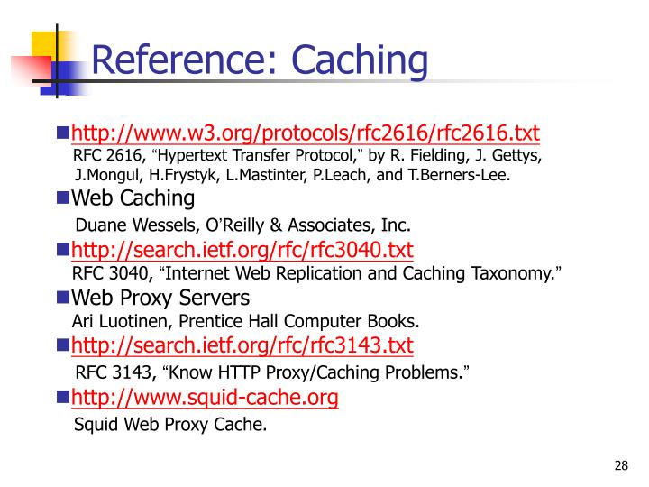 Reference: Caching