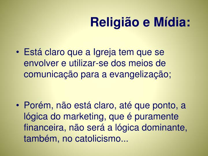 Religião e Mídia: