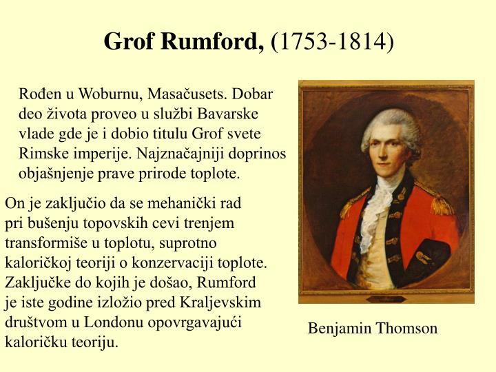 Grof Rumford, (