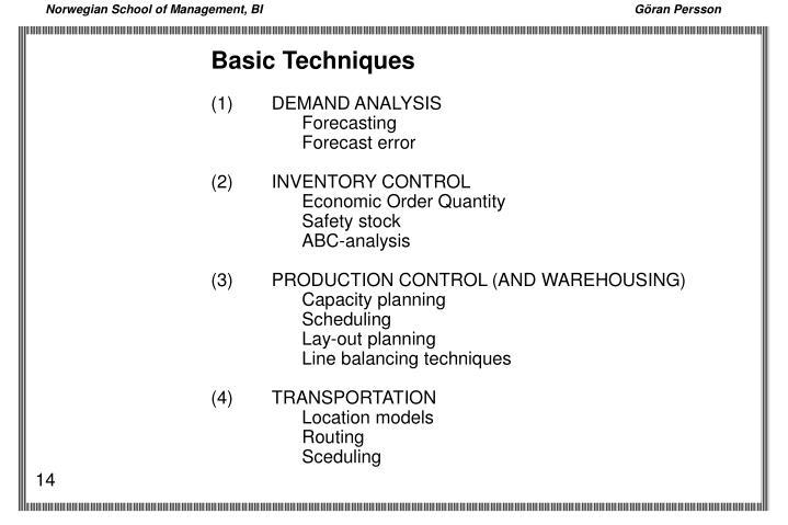 Basic Techniques