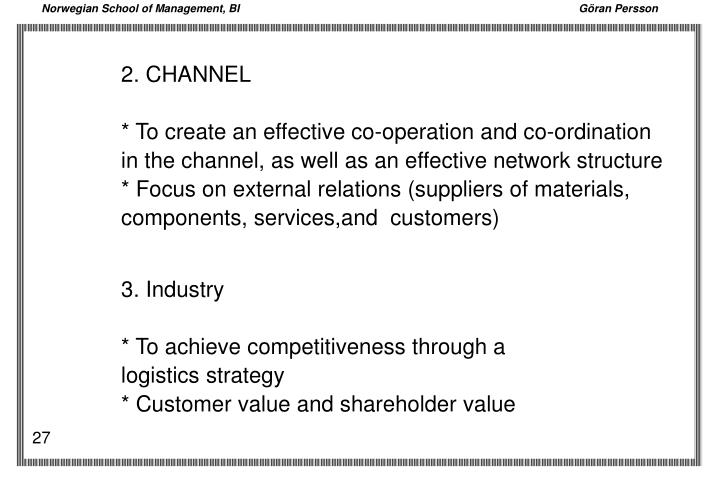 2. CHANNEL