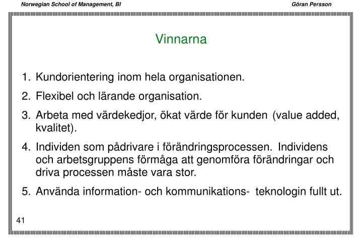 1.Kundorientering inom hela organisationen.