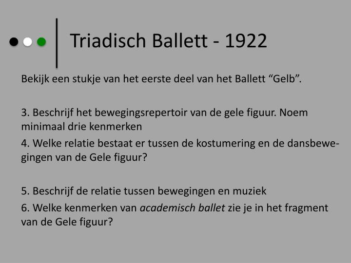 Triadisch Ballett - 1922