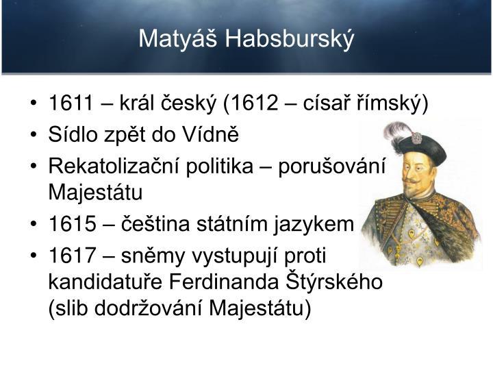 Matyáš Habsburský