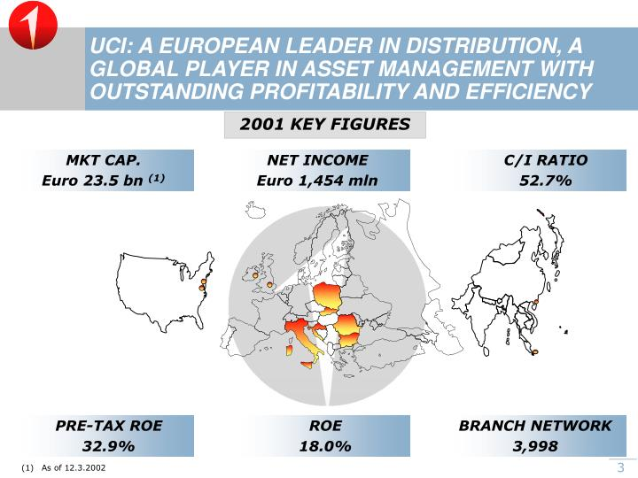 UCI: A EUROPEAN LEADER IN DISTRIBUTION, A GLOBAL PLAYER IN ASSET MANAGEMENT WITH OUTSTANDING PROFITA...