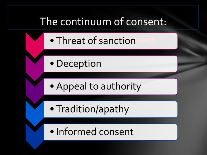 The continuum of consent: