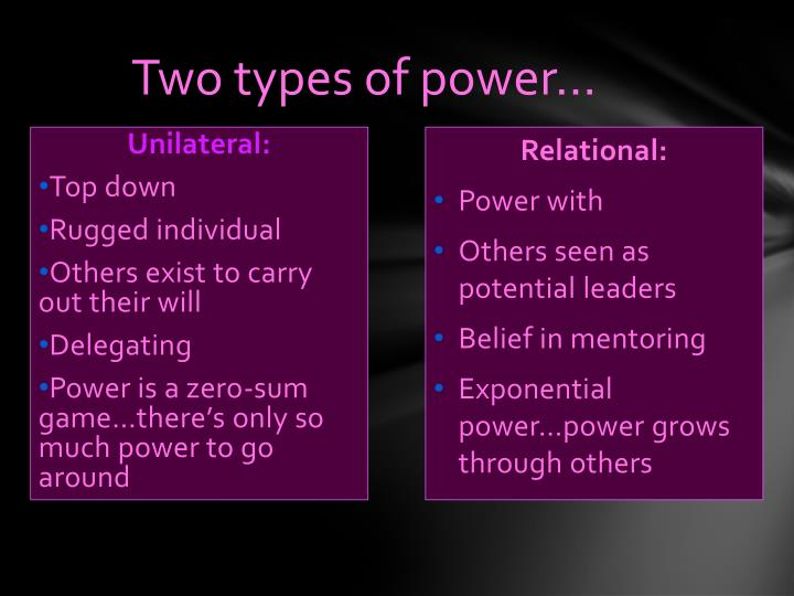 Two types of power…