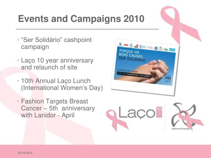 Events and Campaigns 2010