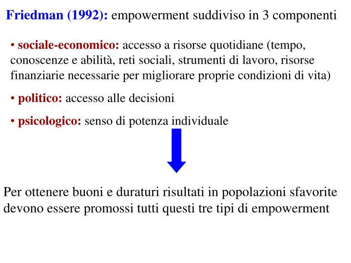 Friedman (1992):