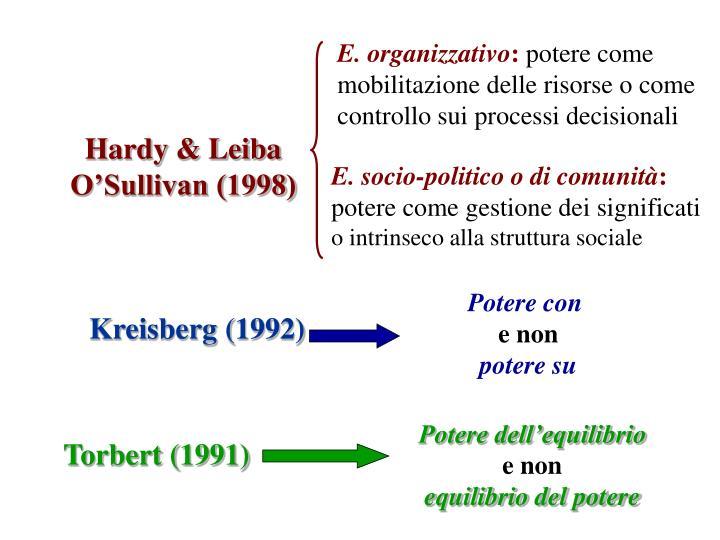 E. organizzativo