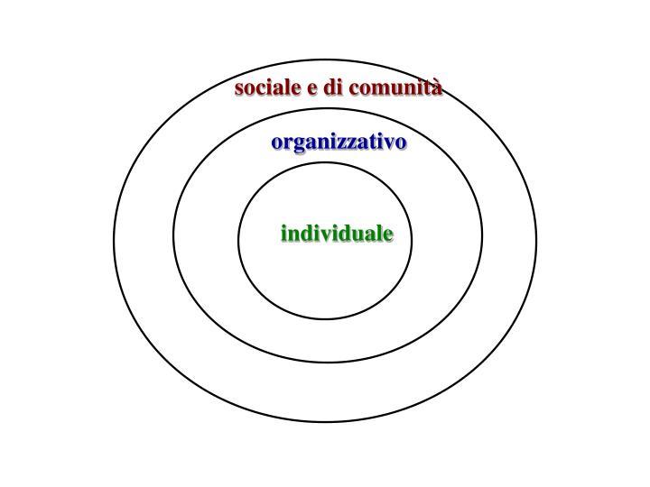 sociale e di comunità