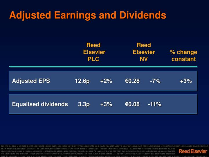 Adjusted Earnings and Dividends