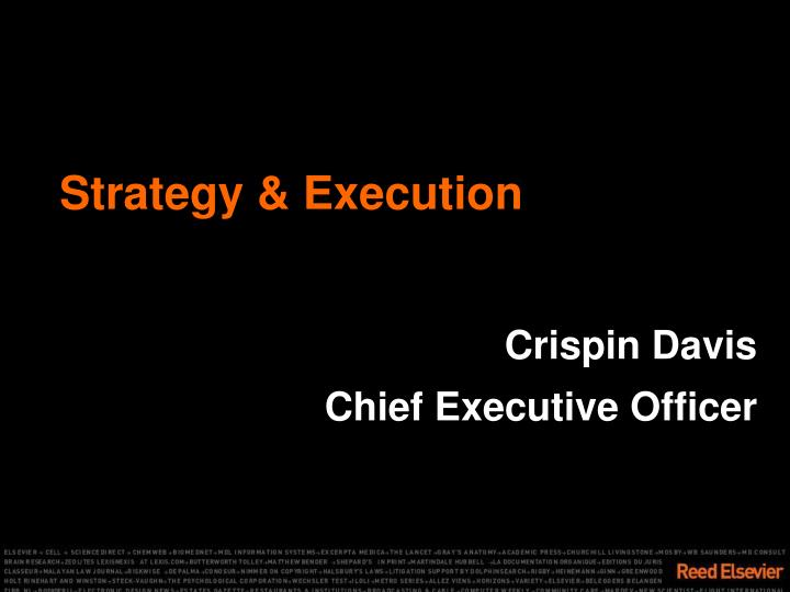 Strategy & Execution