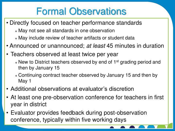 Formal Observations