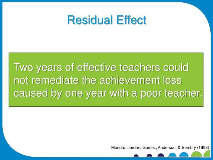 Residual Effect