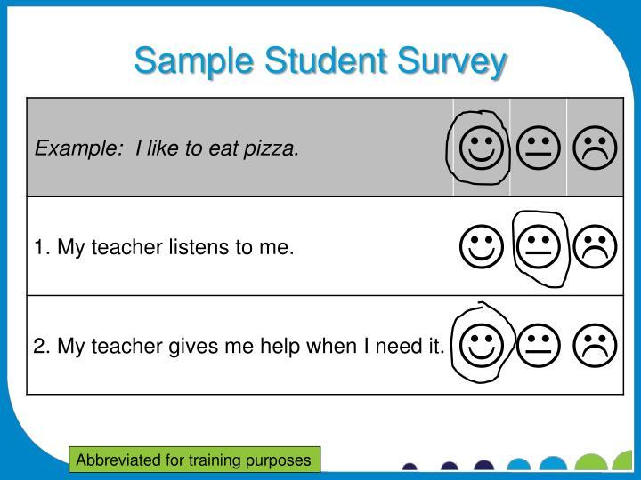 Sample Student Survey