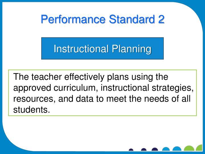 Performance Standard 2
