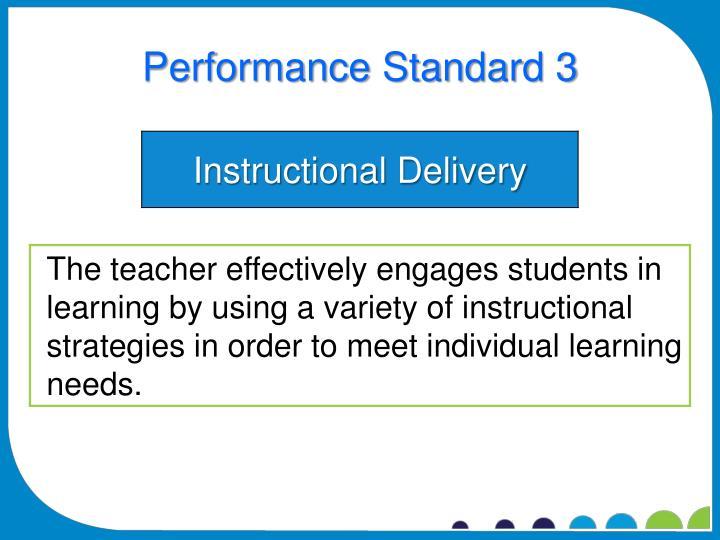 Performance Standard 3