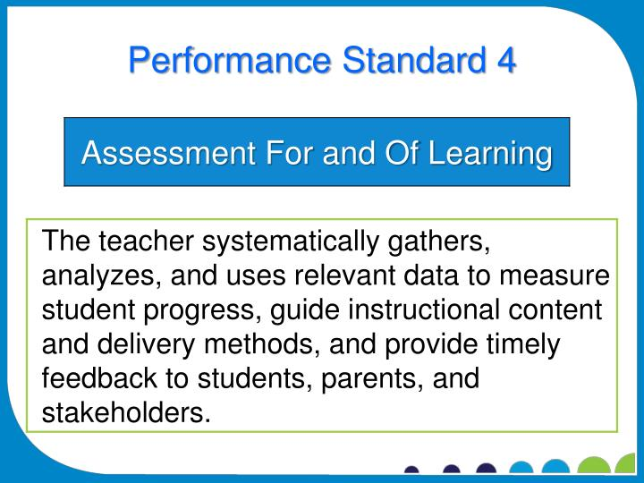 Performance Standard 4