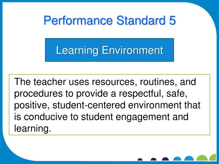 Performance Standard 5