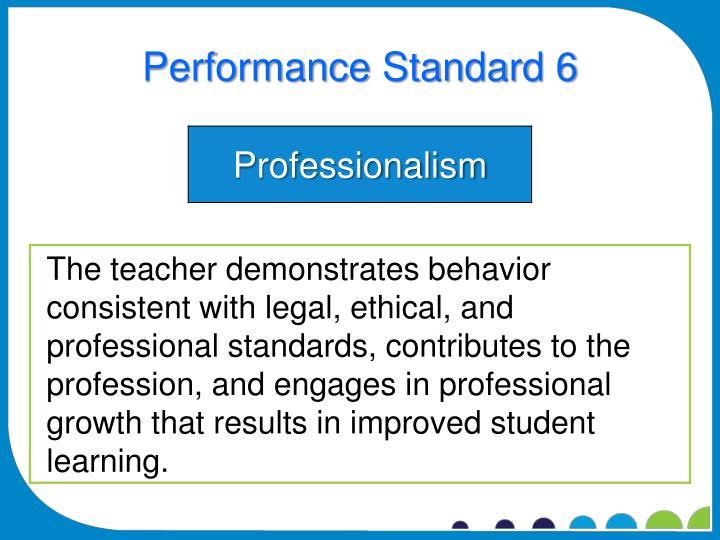 Performance Standard 6