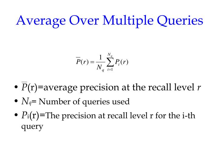 Average Over Multiple Queries