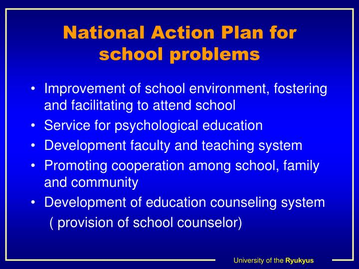 National Action Plan for school problems