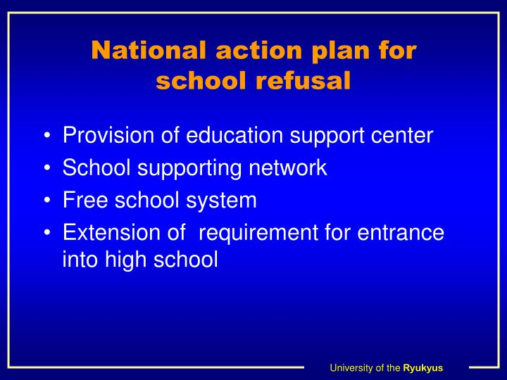 National action plan for school refusal
