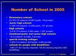 number of school in 2005