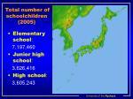 total number of schoolchildren 2005