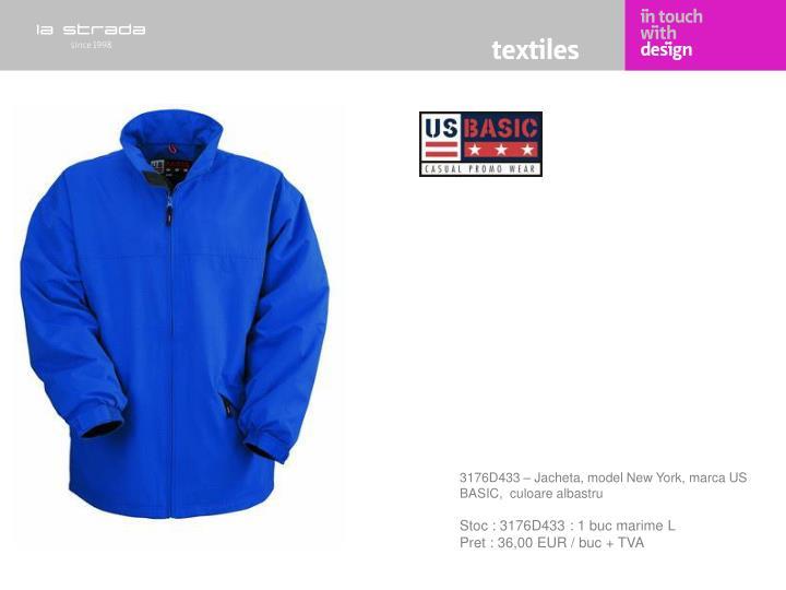 3176D433 – Jacheta, model New York, marca US BASIC,  culoare albastru