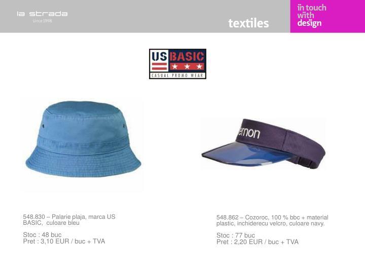 548.830 – Palarie plaja, marca US BASIC,  culoare bleu
