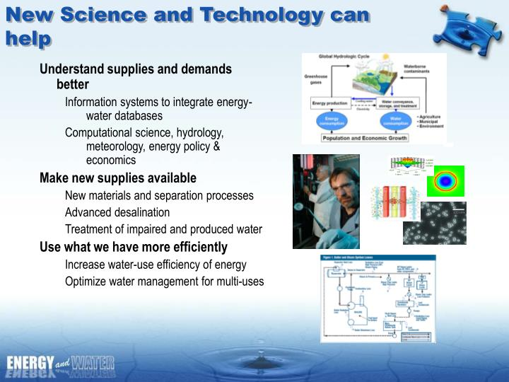 New Science and Technology can help
