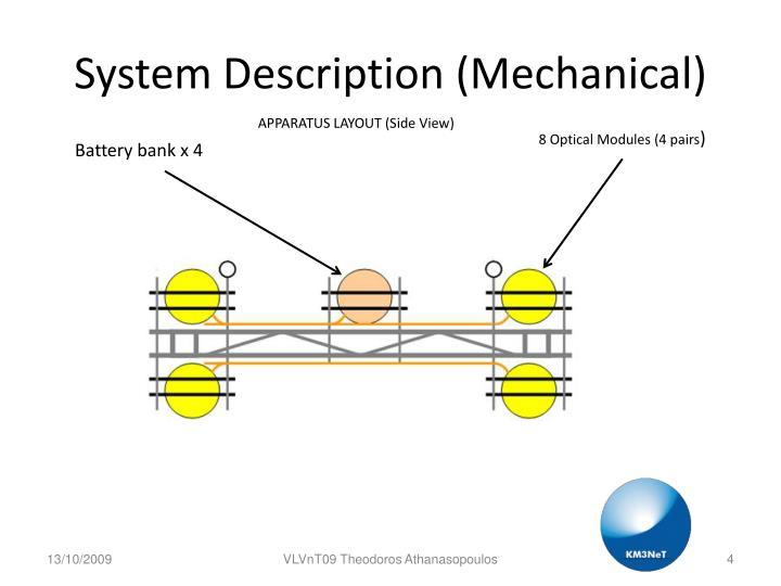 System Description (Mechanical)