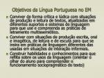 objetivos da l ngua portuguesa no em