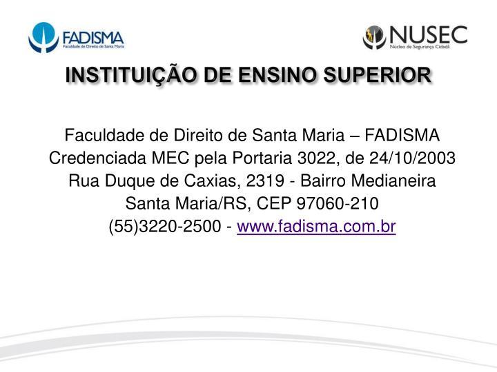 INSTITUIÇÃO DE ENSINO SUPERIOR