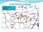 cold frontal passage