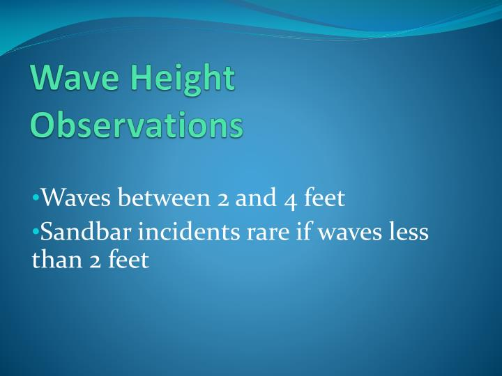 Wave Height Observations