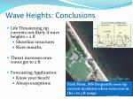 wave heights conclusions