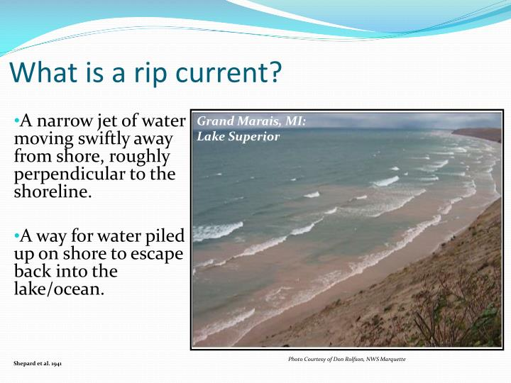 What is a rip current?