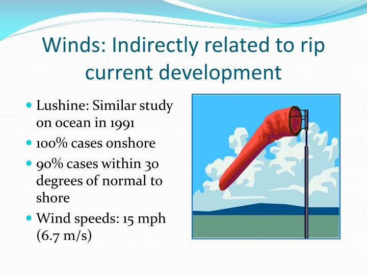 Winds: Indirectly related to rip current development