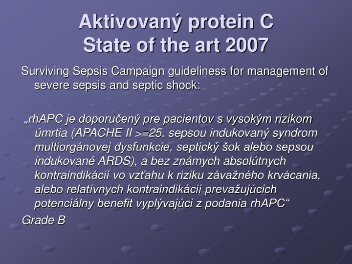 Aktivovaný protein C