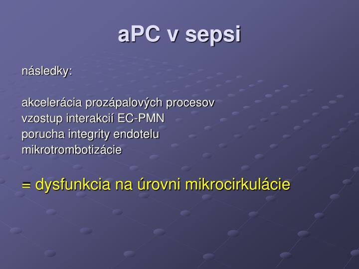 aPC v sepsi
