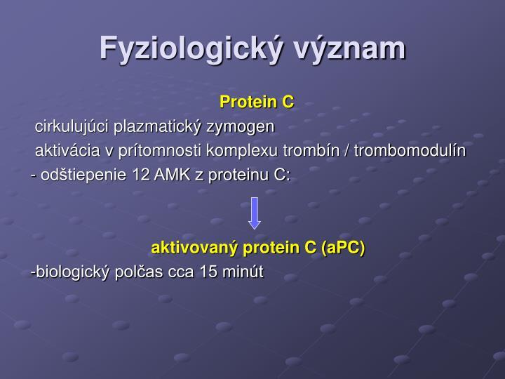 Fyziologický význam
