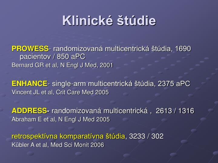 Klinické štúdie