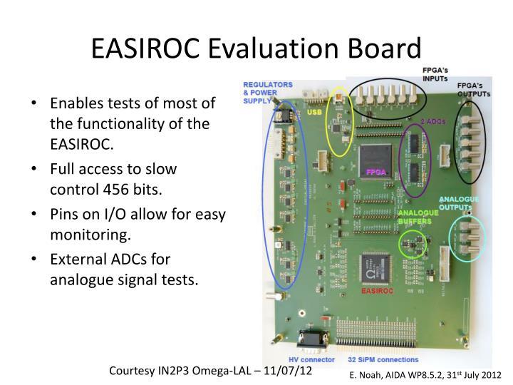 EASIROC Evaluation Board