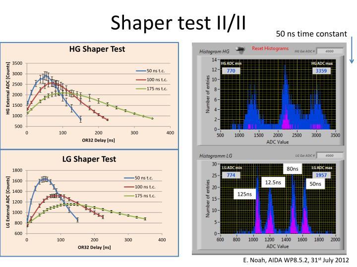 Shaper test II/II
