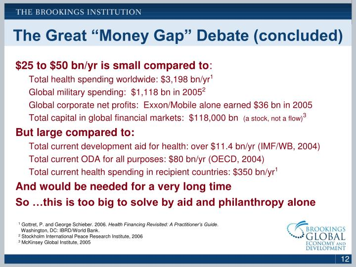 "The Great ""Money Gap"" Debate (concluded)"