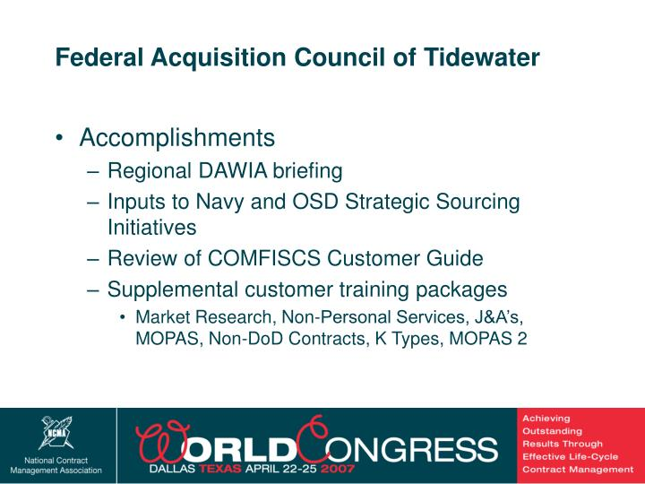 Federal Acquisition Council of Tidewater